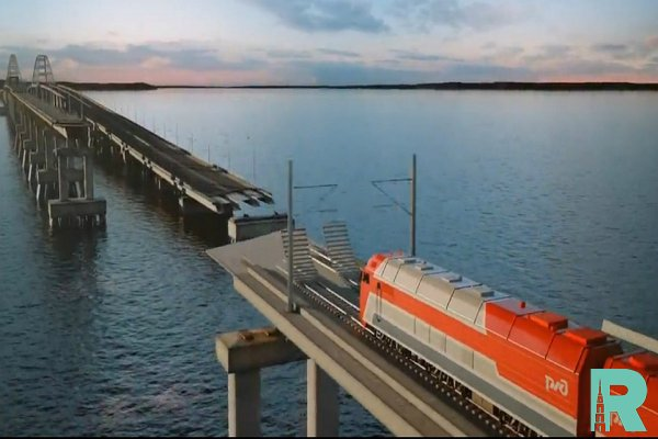 Строителям удалось собрать на Крымском мосту все железнодорожные пролеты