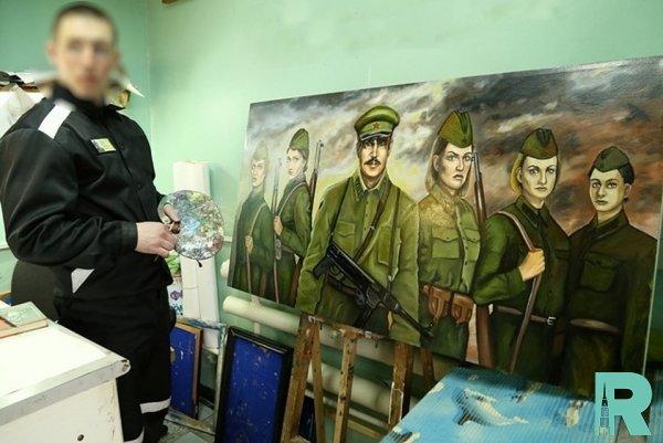 """Омскими заключенными по мотивам ленты """"А зори здесь тихие..."""" нарисована картина"""