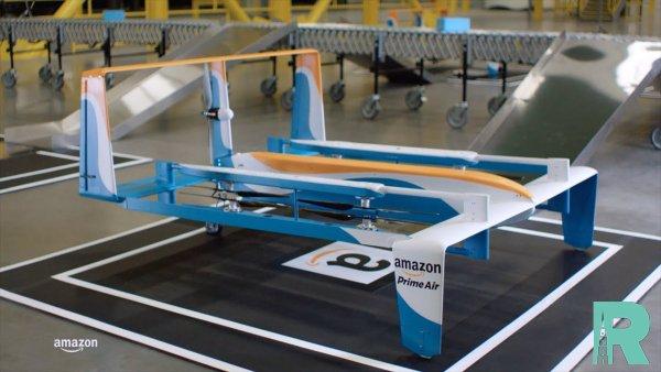 В Amazon для отправки посылок создан футуристический беспилотник