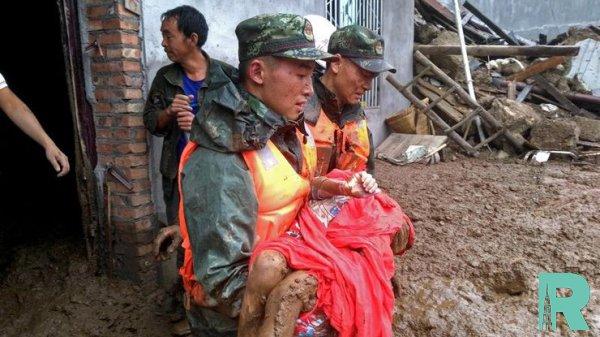 В Китае зафиксировано мощное землетрясение