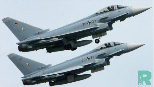 На видео попало смертельное столкновение немецких истребителей