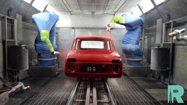 АвтоВАЗ продемонстрировал процедуру окраски кузова автомобилей