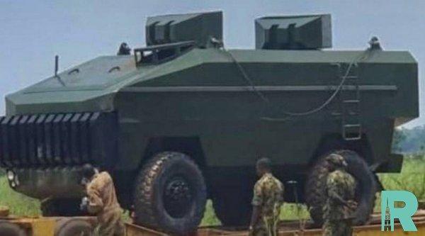 Нигерийскими военными продемонстрирована бронемашина собственного производства