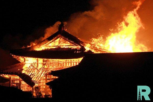 В Японии сгорел замок находящийся в списке ЮНЕСКО