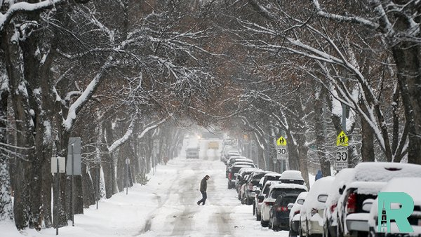 В канадском Эдмонтоне из-за снегопада произошло 175 аварий
