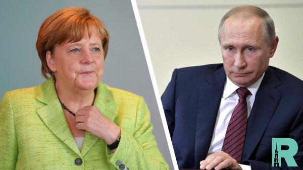 Меркель и Путин обсудили вопрос транзита через Украину газа
