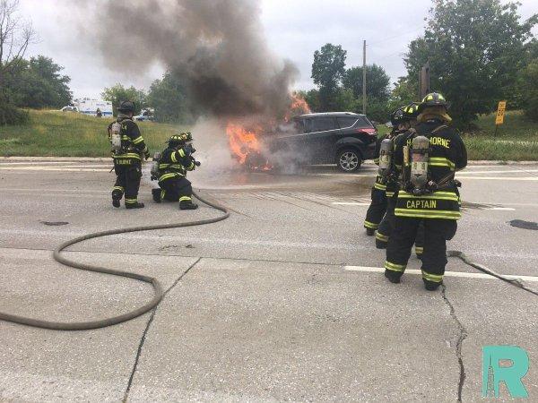 Электромобили тяжелее всех потушить пожарным