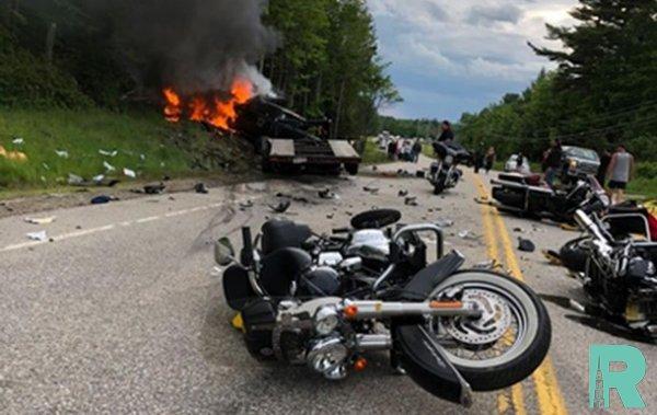 В США в ДТП с колонной байкеров погибло семь мотоциклистов