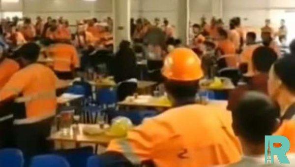 В Интернете оказалось видео драки строителей Амурского ГПЗ